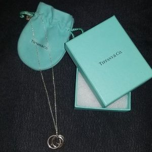 Tiffany & Co. silver interlocking circles necklace